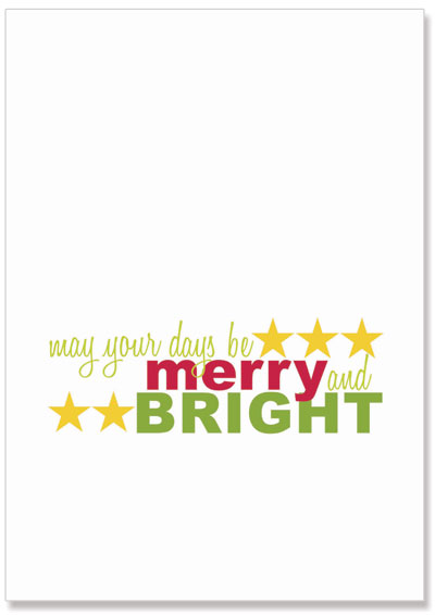 printable christmas poster merry and bright