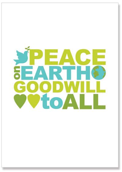 christmas printable poster peace on earth