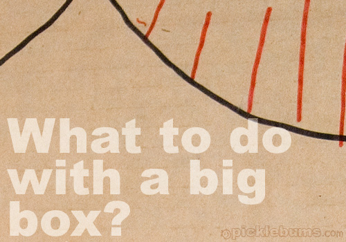 What do to with a big box - here's a simple and fun way to play with a big box