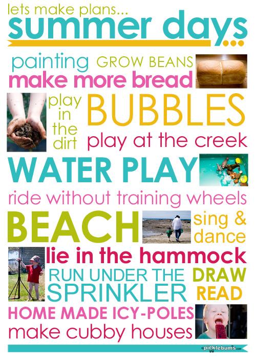 summer plans