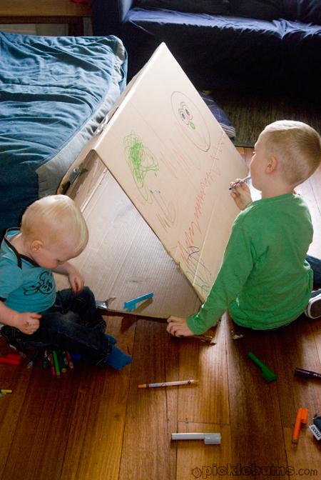 make a box tunnel