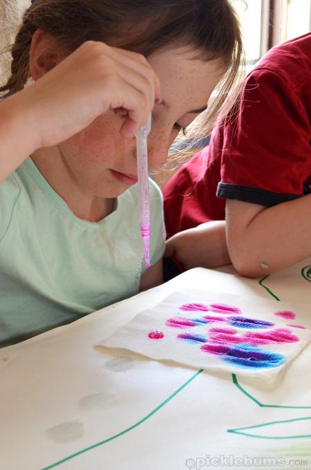 easy art for kids dropper painting