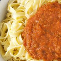 Lentil-ese – Vegetarian Spaghetti Bolognese