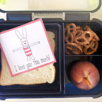 printable lunch box notes in lunch box