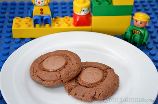 Over the Top Chocolate Button Cookies
