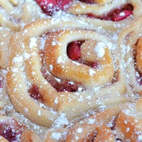 Apple and rhubarb scrolls