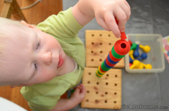 toddler activities - stacking