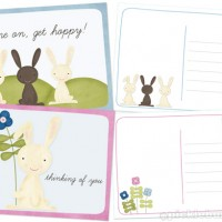printable easter postcards