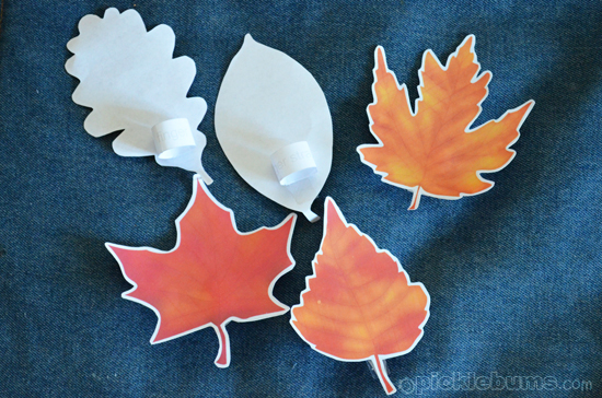 autumn leaf printable puppets