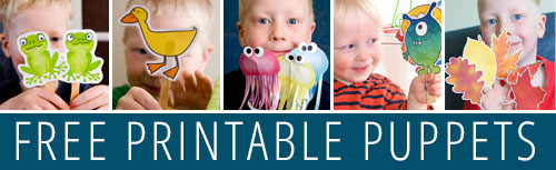 Find more free printable puppets here.