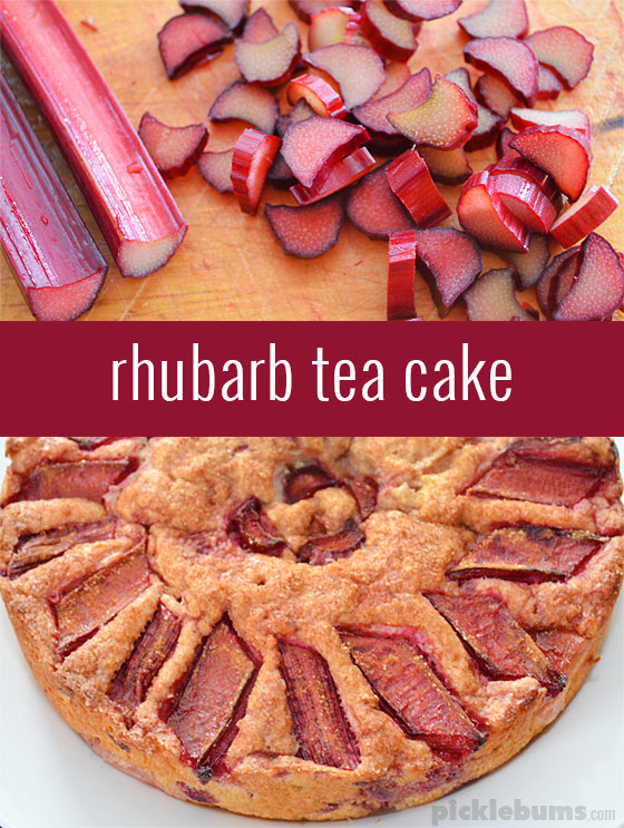 Rhubarb Tea Cake - a deliciously easy cake recipe