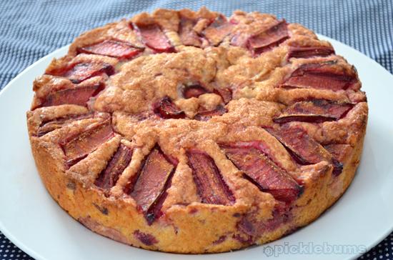 rhubarb tea cake