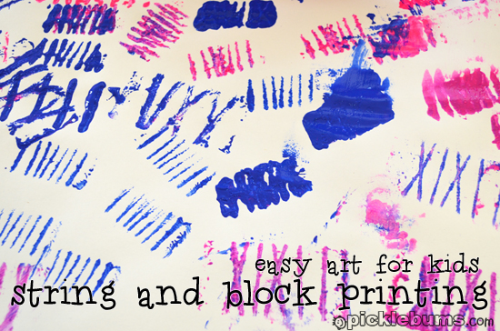 string and block printing