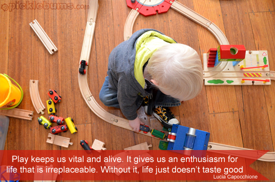Playing Trains – Wordless Wednesday