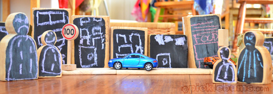 chalk board blocks