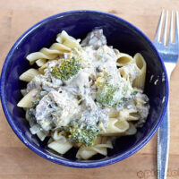 Chicken Mushroom and Broccoli Pasta
