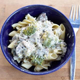 Chicken Mushroom and broccoli pasta