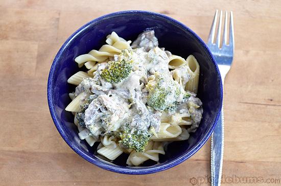 Chicken mushroom and broccoli pasta recipe