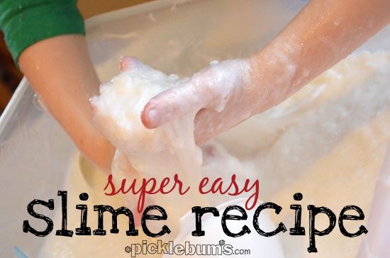 super easy slime recipe