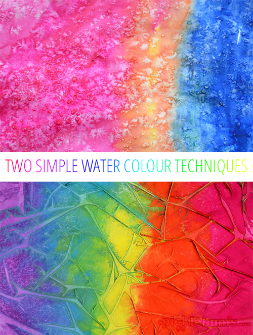Easy art for kids experimenting with water colours for Simple watercolor paintings for kids