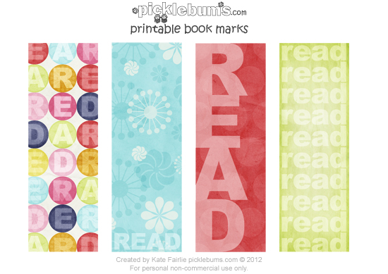 photograph about Bookmarks Printable titled Totally free Printable Bookmarks for E-book 7 days.