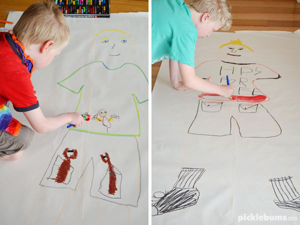 Drawing Myself - an easy art activity the kids will do over and over again