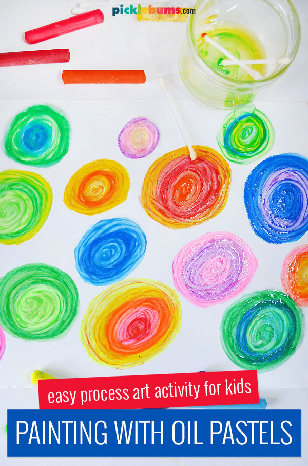 painting with oil pastels and oil