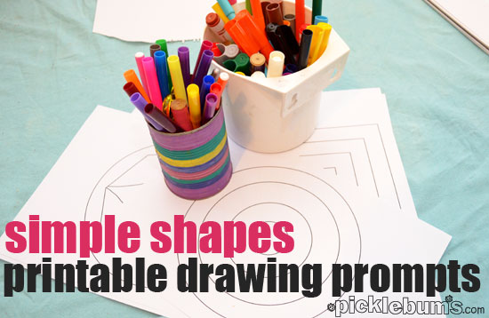 Drawing Ideas For Kids Printable Shape Drawing Prompts Picklebums