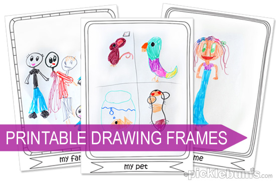 Drawing Ideas For Kids Printable Drawing Frames Picklebums