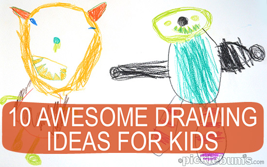 Sketching ideas for kids the image kid Simple drawing ideas for kids