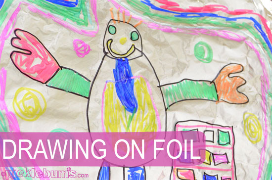 Easy Art For Kids Drawing On Foil Picklebums