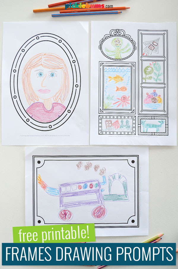 frames drawing prompts with drawings