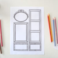 page with frames to draw in