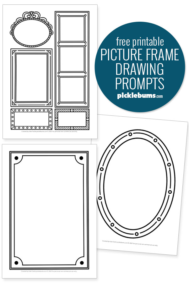 sample image for printable frame drawing prompts