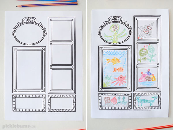 mutli frame drawing prompt without and with drawings