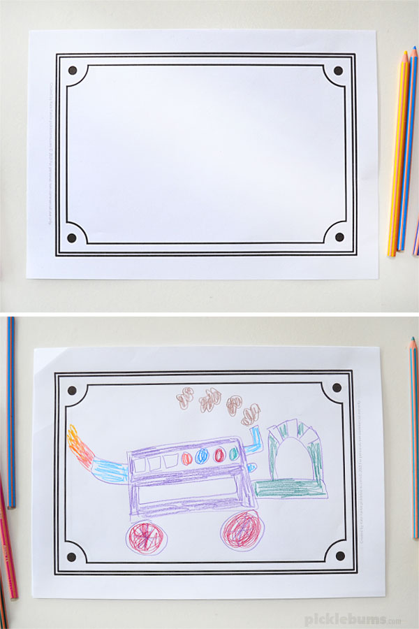 rectangle frame drawing prompt without and with drawing