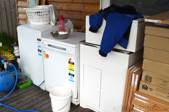 laundry on deck