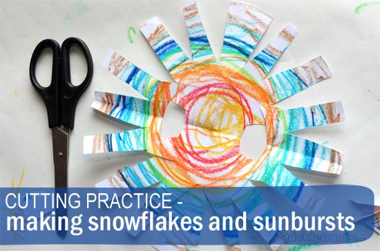 snowflakes and sunbursts