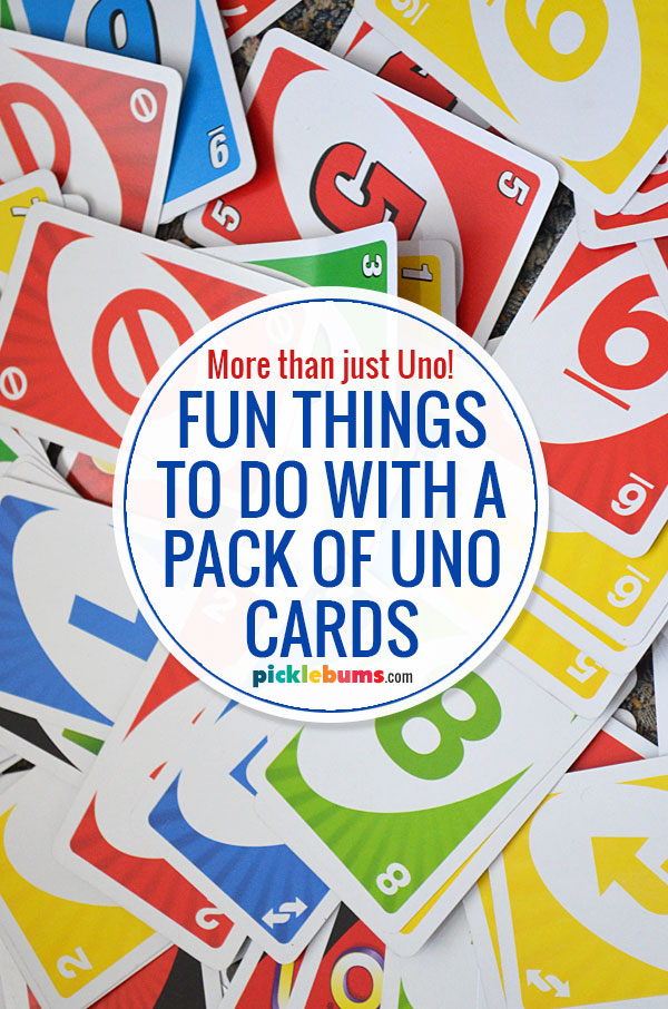 fun games to play with a pack of uno cards