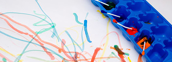 cotton bud painting