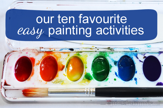 easy painting activities