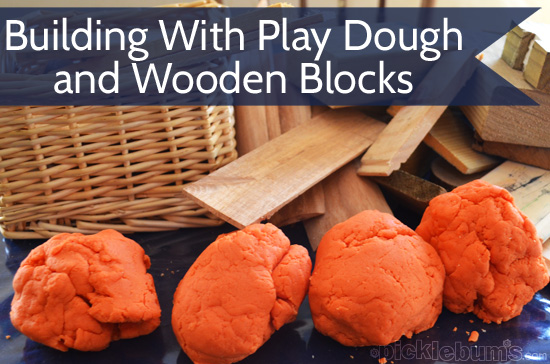 play dough and wooden blocks