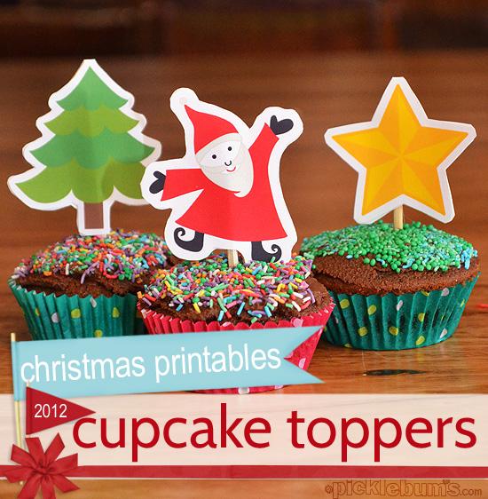 Christmas Cupcake Toppers.2012 Christmas Printables Christmas Cupcake Toppers