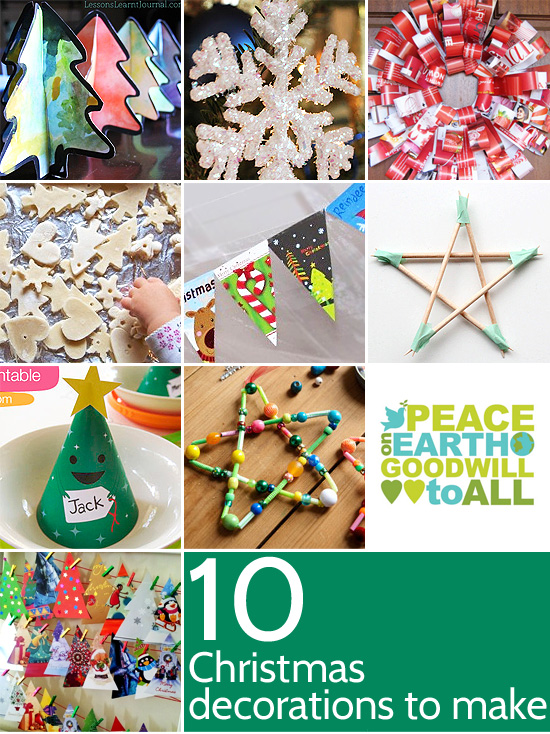 Ten christmas decorations to make for Christmas decoration ideas to make