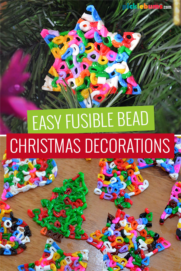 Christmas decorations made for fusible beads and cookie cutters