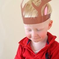 Free printable reindeer antlers