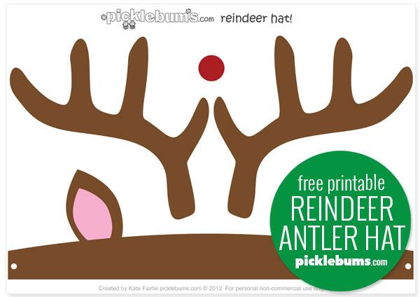 reindeer antler hat free printable