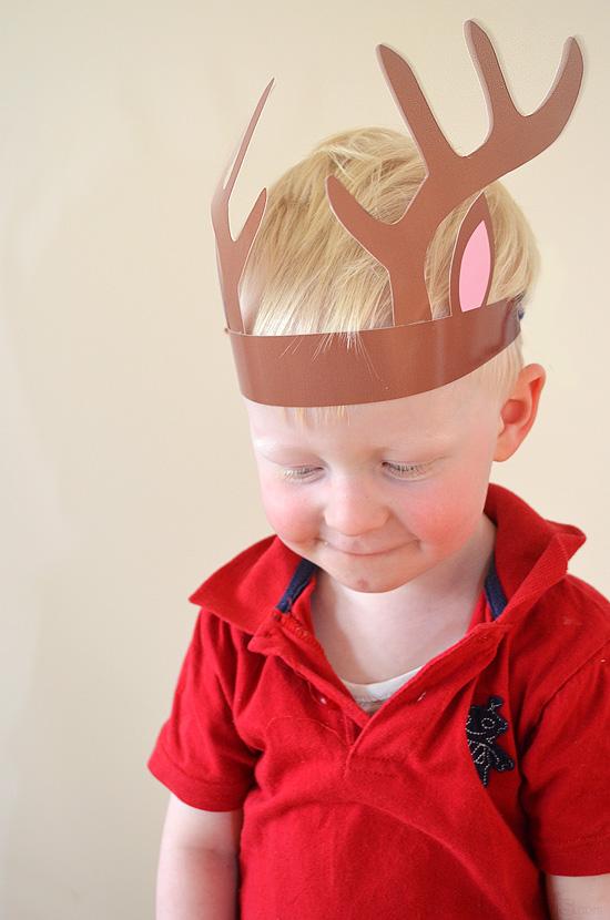 picture regarding Printable Reindeer Antler known as Printable Reindeer Antlers! - Pickles