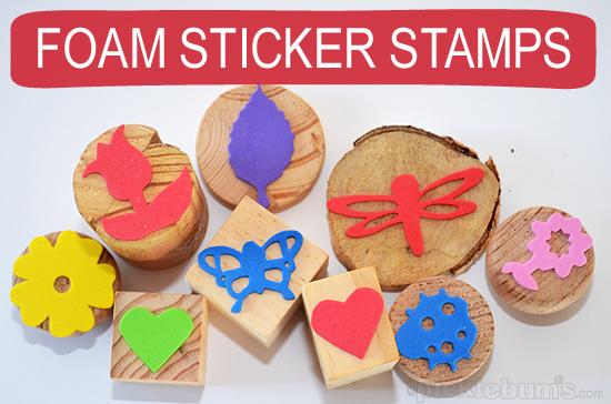 foam sticker stamps