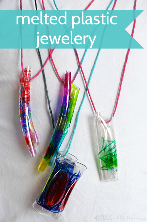 melted bottle necklaces